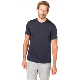 super.natural City Tee Men Blue Black/Ash Melange